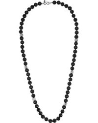 Kenneth Jay Lane | Black Rhodium-plated Cubic Zirconia Necklace | Lyst