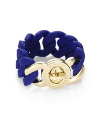 Marc By Marc Jacobs | Blue Katie Rubber Bracelet | Lyst
