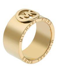 Michael Kors | Metallic Fulton Ring Golden | Lyst