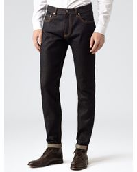 Reiss Blue Bath Selvage Jeans for men