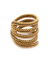A Peace Treaty | Metallic Yiizh Spiral Twist Ring - Gold | Lyst