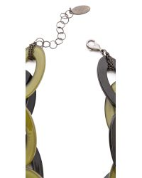Adia Kibur - Green Short Link Necklace - Lyst