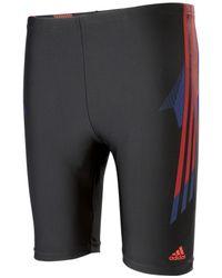 Adidas Black Tech Range Long Length Boxer Swim Shorts for men
