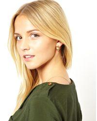 ASOS - Metallic Vintage Style Hoop Earrings - Lyst