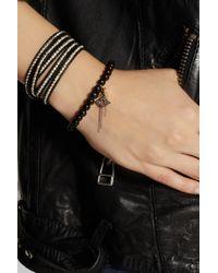 Chan Luu - Black Horn Diamond and Goldplated Silver Charm Bracelet - Lyst