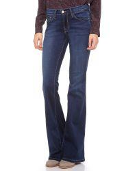 FRAME - Blue Flared Jeans - Lyst