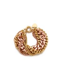 Giles & Brother | Pink Multi Chain Bracelet | Lyst