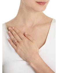 I Am Ileana Makri Metallic Pink Gold Filigree Shield Ring