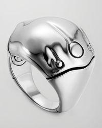 John Hardy - Metallic Bamboo Silver Dome Ring for Men - Lyst