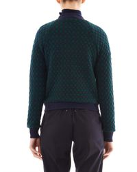 Marc By Marc Jacobs | Green Argyle Quilted Bomber Jacket for Men | Lyst