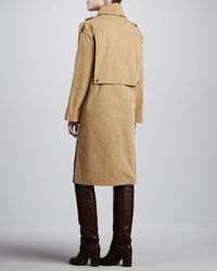 Michael Kors - Natural Macintosh Washed Cotton Broadcloth Coat - Lyst