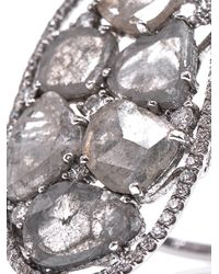 Susan Foster - Metallic Diamond Slice and White Gold Ring - Lyst