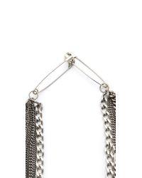 Tom Binns Metallic Layered Chain Necklace