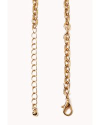 Forever 21 Metallic Sporty Meow Pendant Necklace