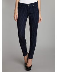 PAIGE | Blue Verdugo Ultra Skinny Jeans in Pin Dot | Lyst