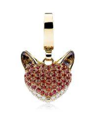 Theo Fennell Red Woodland Fox Charm