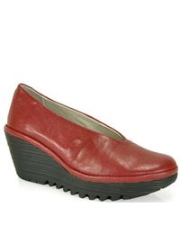 Fly London | Red Yaz Wedge Pump | Lyst