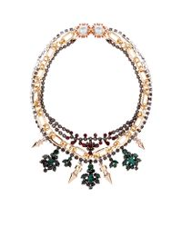 Mawi Multicolor Triple Chain Crystal Necklace