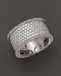 Roberto Coin - 18k White Gold Florentine Diamond Ring - Lyst