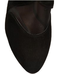 Alaïa - Black Suede and Mesh Ankle Boots - Lyst