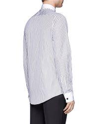 Alexander McQueen | Blue Double Striped Cotton Shirt for Men | Lyst