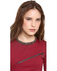 Alexis Bittar Multicolor Hinged Nova Collar Necklace