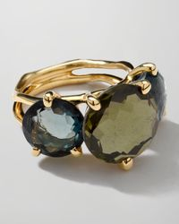 Ippolita - Metallic 18K Gold Rock Candy Gelato 3-Stone Ring - Lyst
