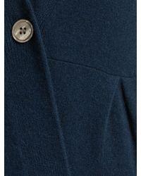 John Lewis Blue Button Tuck Cashmere Cardigan