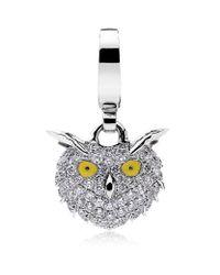 Theo Fennell Metallic Snowy Owl Charm