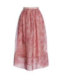 Whistles - Multicolor Vienna Flamingo Feather Full Skirt - Lyst