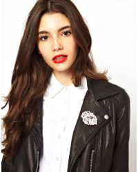 ASOS - White Colour Jewel Brooch - Lyst