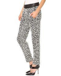 Nicholas - White Graphic Leopard Track Pants - Lyst