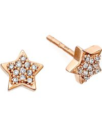 Astley Clarke | Pink A Little Light 14ct Rose Gold Diamond Stud Earrings | Lyst