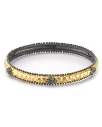 Freida Rothman - Metallic Fleur De Lis Station Bangle - Lyst