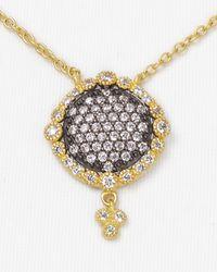 Freida Rothman - Metallic Pave Dish Necklace 14 - Lyst