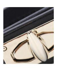 Givenchy - Black Shark Turn-Lock Leather Bracelet - Lyst
