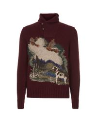Polo Ralph Lauren Brown Scenic Shawlcollar Sweater for men