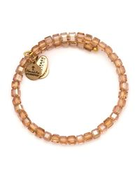 ALEX AND ANI | Pink Euphrates Beaded Rose Gold Tone Wire Bangle - 100% Bloomingdale's Exclusive | Lyst