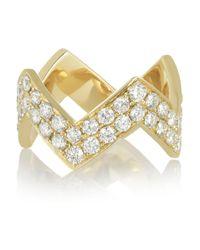 Anita Ko | Metallic Zig Zag 18karat Gold Diamond Ring | Lyst