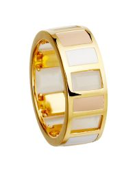 Astley Clarke Metallic Colour Blush Gem Slice 18ct Gold Vermeil Stacking Ring