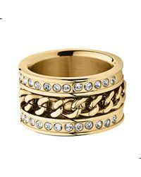 Dyrberg/Kern Black Nerissa Shiny Gold Ring