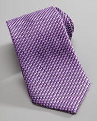 Ermenegildo Zegna | Microbasketweave Silk Tie Purple for Men | Lyst