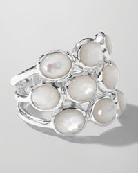 Ippolita | Metallic Sterling Silver Rock Candy 3row Ring in Motherofpearl | Lyst