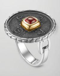 John Hardy - Metallic Batu Chain Goldplate Silver Coin Ring - Lyst