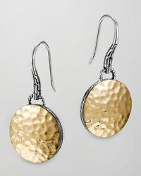 John Hardy - Metallic Palu Gold-plate/silver Round Drop Earrings - Lyst
