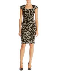 Karen Millen Gray Jacquard Lace Effect Dress