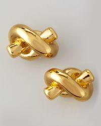 kate spade new york Metallic Sailor's Knot Stud Earrings