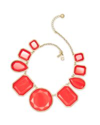 kate spade new york | Red Swirl Around Graduated Necklace | Lyst