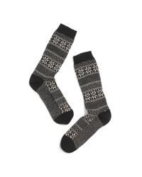 Madewell - Black Lisa Breg Fair Isle Trouser Socks - Lyst