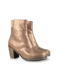 Lyst Mm6 By Maison Martin Margiela Glitter Ankle Boot In